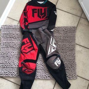 Fly dirt bike racing gear.